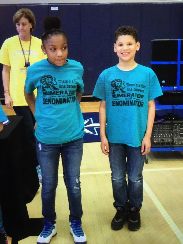 Bri'a Chadler and Kanon Fletcher at the Math Competition
