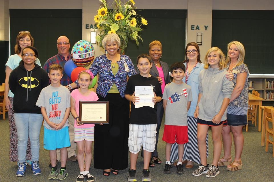 PBIS Award with Farley Faculty and Students