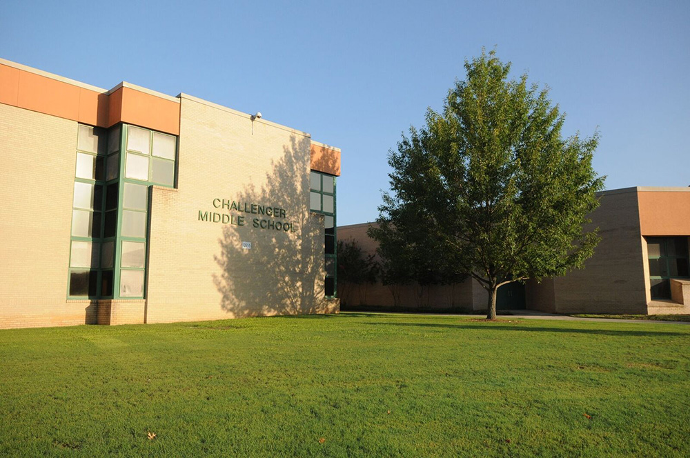 Challenger Middle School building facade