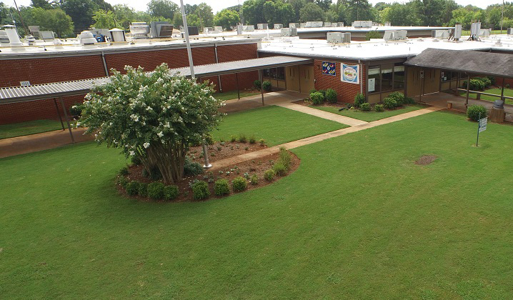 Ridgecrest Elementary School Yard and Building
