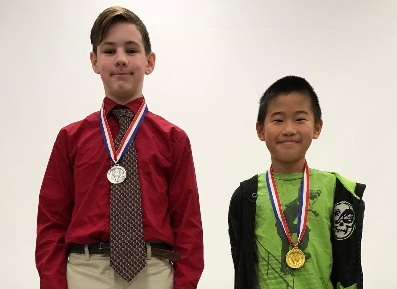 Jack Cox and Andy Jia, the CES spelling be runner-up and winner
