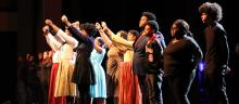 Cast and crew of the Black History Program extended their arms to the audience