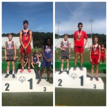 Rylan McCreery receiving 2nd in the 1600m and the 800m.
