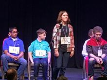 Erin Howard at state spelling bee
