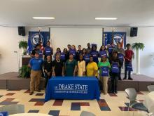 Career Tech Students Pose for a Picture at Drake State University's Flex Factor Program