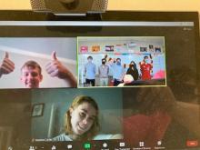 Zoom Meeting for Home Studnets for German 3 German Honor Society Members