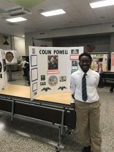MLK Student dresses up as Collin Powell