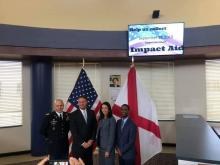 Pictured are Garrison Commander of Redstone Arsenal, Col. Kelsey Smith, along with area superintendents from Madison City, Madison County and Huntsville City Schools for the Impact Aid Kick Off Ceremony