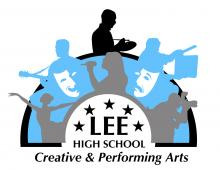 Lee High School Creative and Performing Arts Magnet Logo depicting the various artistic acts.