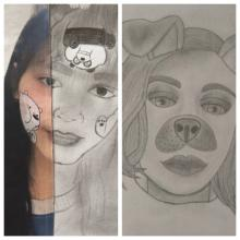 self portraits from CMS students