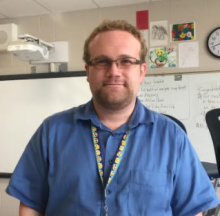 New teacher, Andrew Haynes