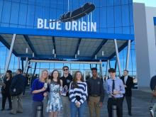 students and teachers at the Blue Origin ribbon cutting ceremony