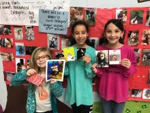 Emery, Makaela, and Bella with their pets, who won the pet contest
