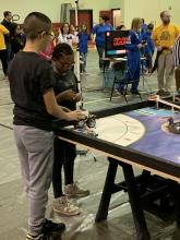 McDonnell students controlling robot