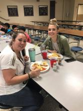 Mrs Wilson and Mrs. Canoles enjoying lunch