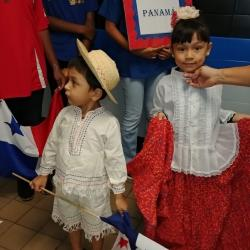 Students displaying Panama's style of dress.