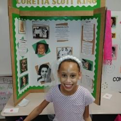 Student portraying Coretta Scott King