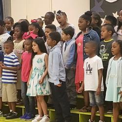 RHES' 1st grade singing during RHES Award Ceremony. Go Cougars