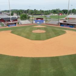 View of Baseball filed from centerfield