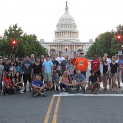 students in front of capitol building