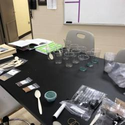 Materials laid out for 5th Grade Ecosystems Class