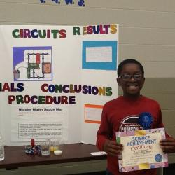 Photo of Zachary Feagin Overall Science Fair Winner