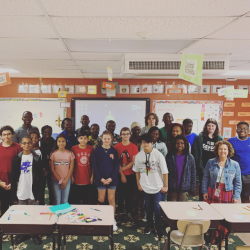 Students from the Francophone countries in Africa visit ASFL's French class