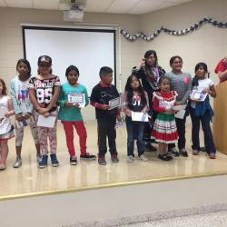 Student winners for art awards from each grade level