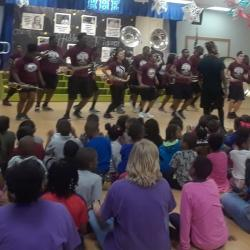 Alabama A&M University's Band entertaining RHES with the sound and moves!! Go Bulldogs!!!