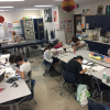 View Visual Arts Magnet students working.