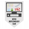 View NCTHS biotechnology club logo - computer with biology related images on the screen