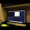 Picture of a mac computer being used to edit video.