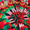 View Elves Forming a Holiday Wreath