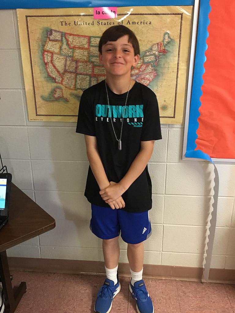 ASFL 4th Grade Winner James Eastman
