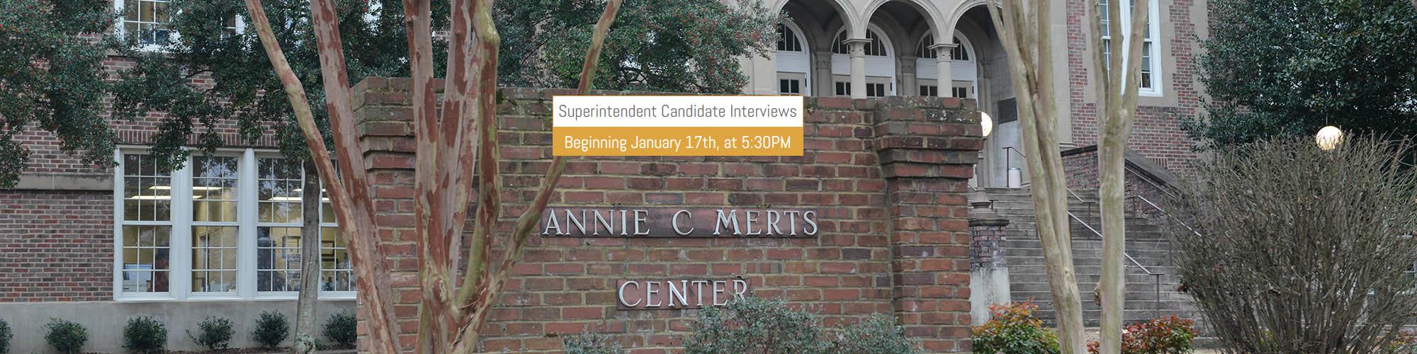 Superintendent Interview Banner