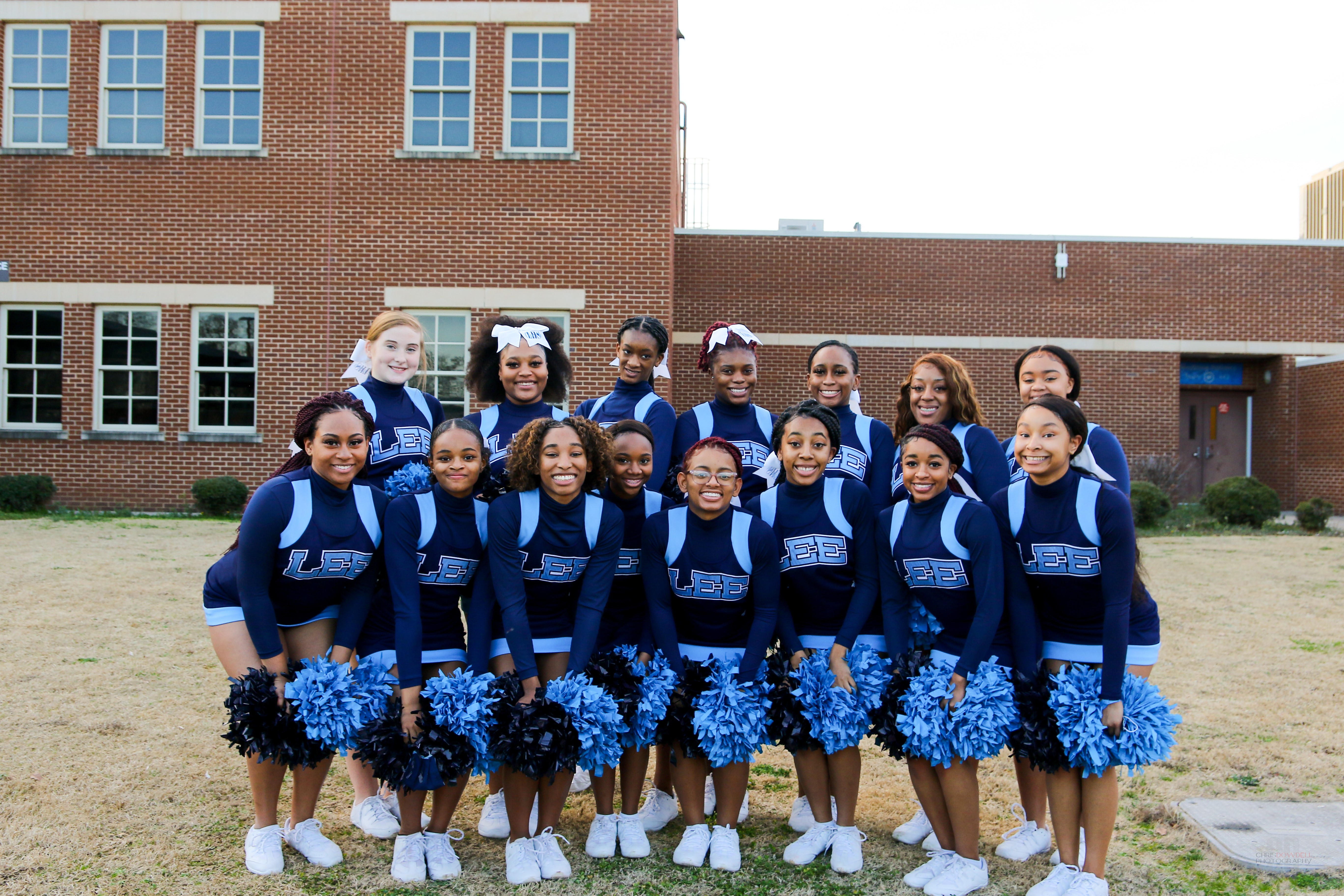 Lee High Cheerleaders under the sponsorship of Ms. Clarice Pippin