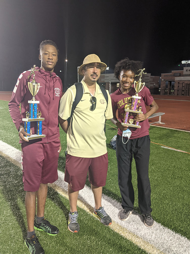Columbia track students receive awards at City Championship