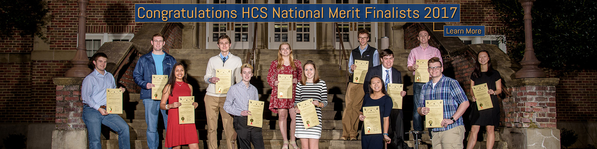 National Merit Scholars Finalists Banner