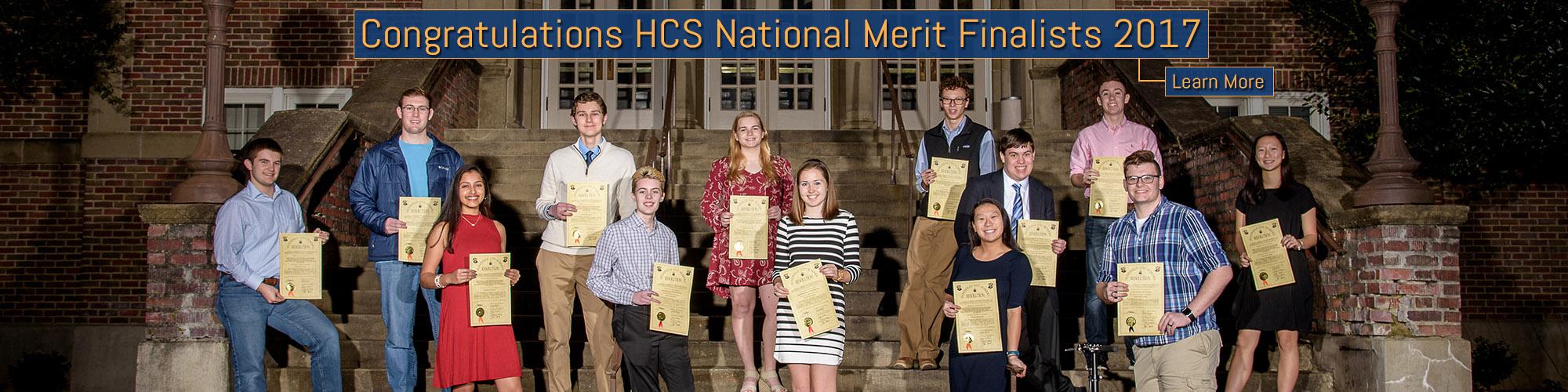 National Merit Scholars Finalists Banner