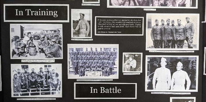 A portion of Colten Steele's project focusing on Navajo serving in the military