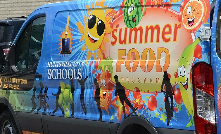 Summer feeding van