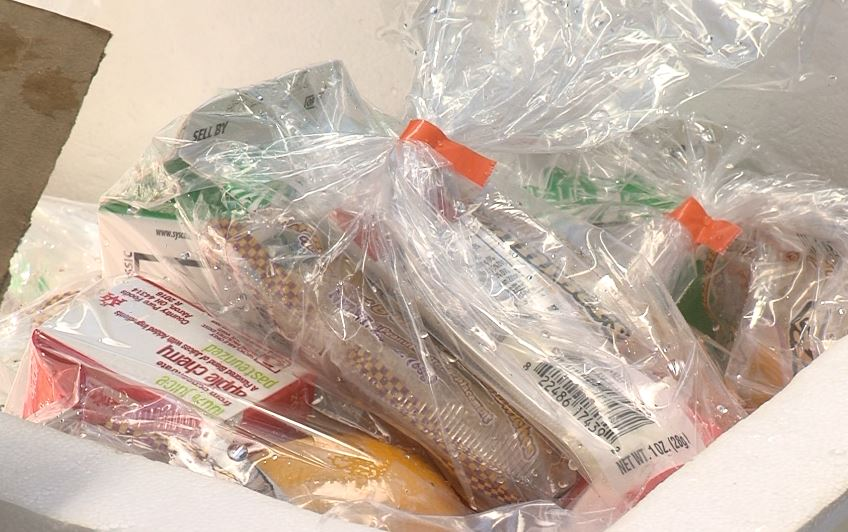 Summer food for students sealed in plastic bags