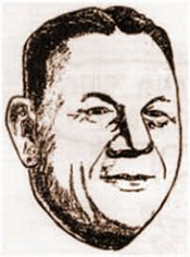 Artists drawing of Milton Frank