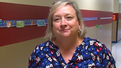 Mrs. Penny Lundgren being interviewed by ETV