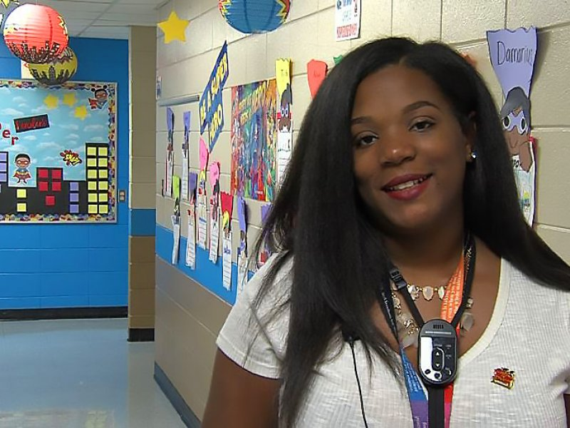 Ms. Hughes being interviewed by ETV