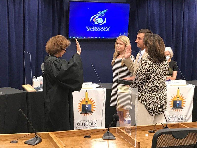 District 4 Board Member Ryan Renaud being Sworn In