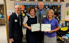Lori Nelson presented with AFA Teacher of the Year award