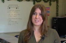 Alissa Beck speaking to ETV about being an HCS Changemaker