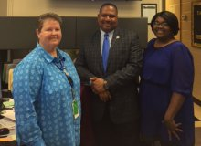 Facilities Services department participates in Autism Awareness day by wearing blue