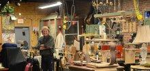 Danny Davis Showing Students His Shop
